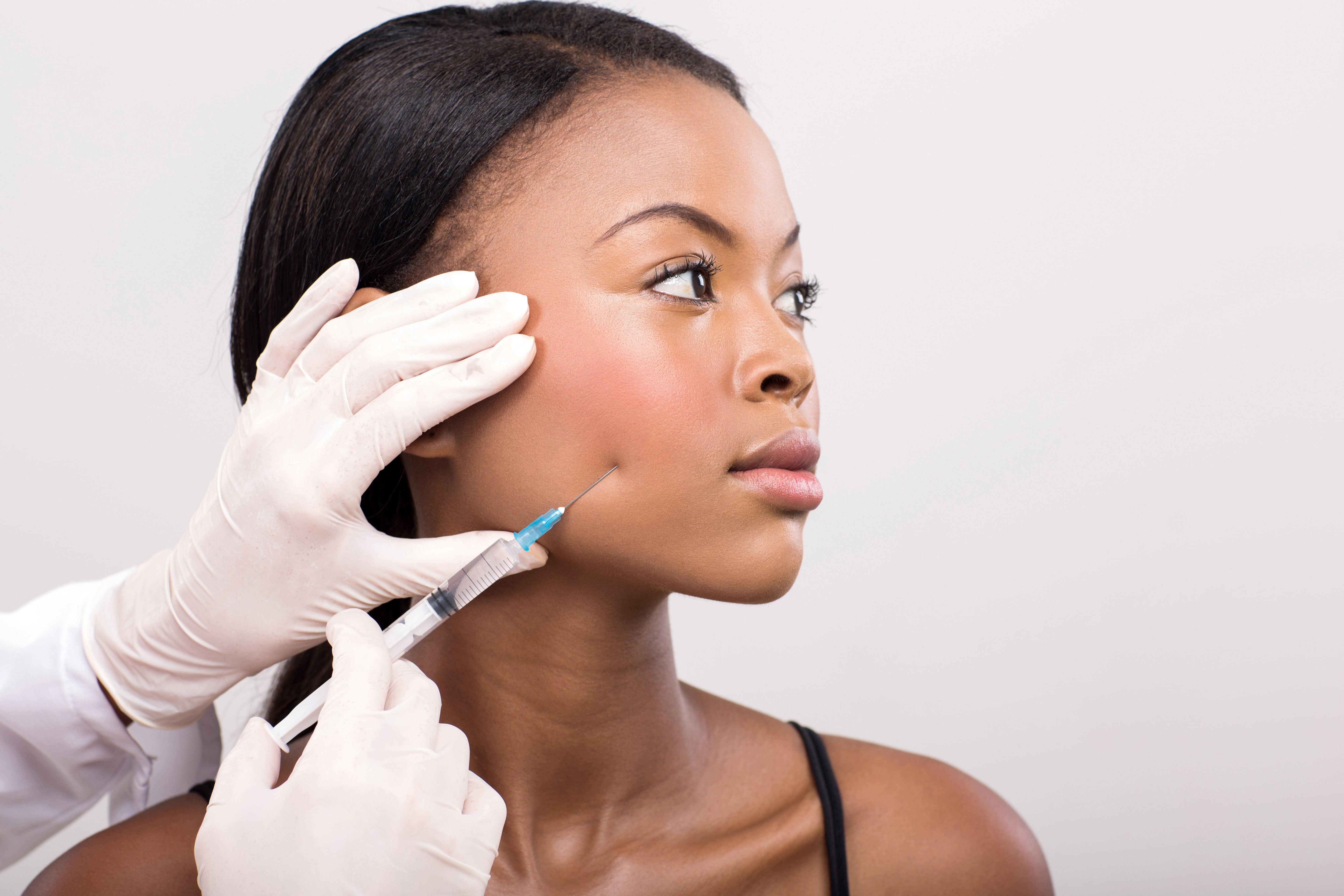 Fillers, Injected to womans face, Cutting Edge Aesthetics